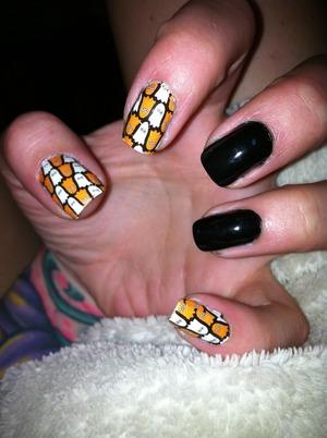 I used the Sally Hansen nail art appliqué.