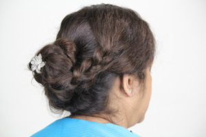 Messy coiled updo with Side Braid My youtube channel - http://www.youtube.com/user/makeupinfo