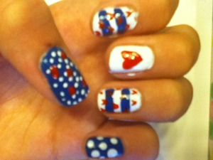 Summer nautical inspired nails ☼