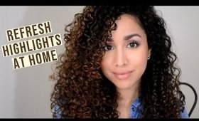 How to Refresh Highlights at Home! (Easy and Safe for Curly Hair)