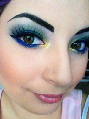 blue lashes on myself(: