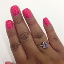 hot pink with gel coating
