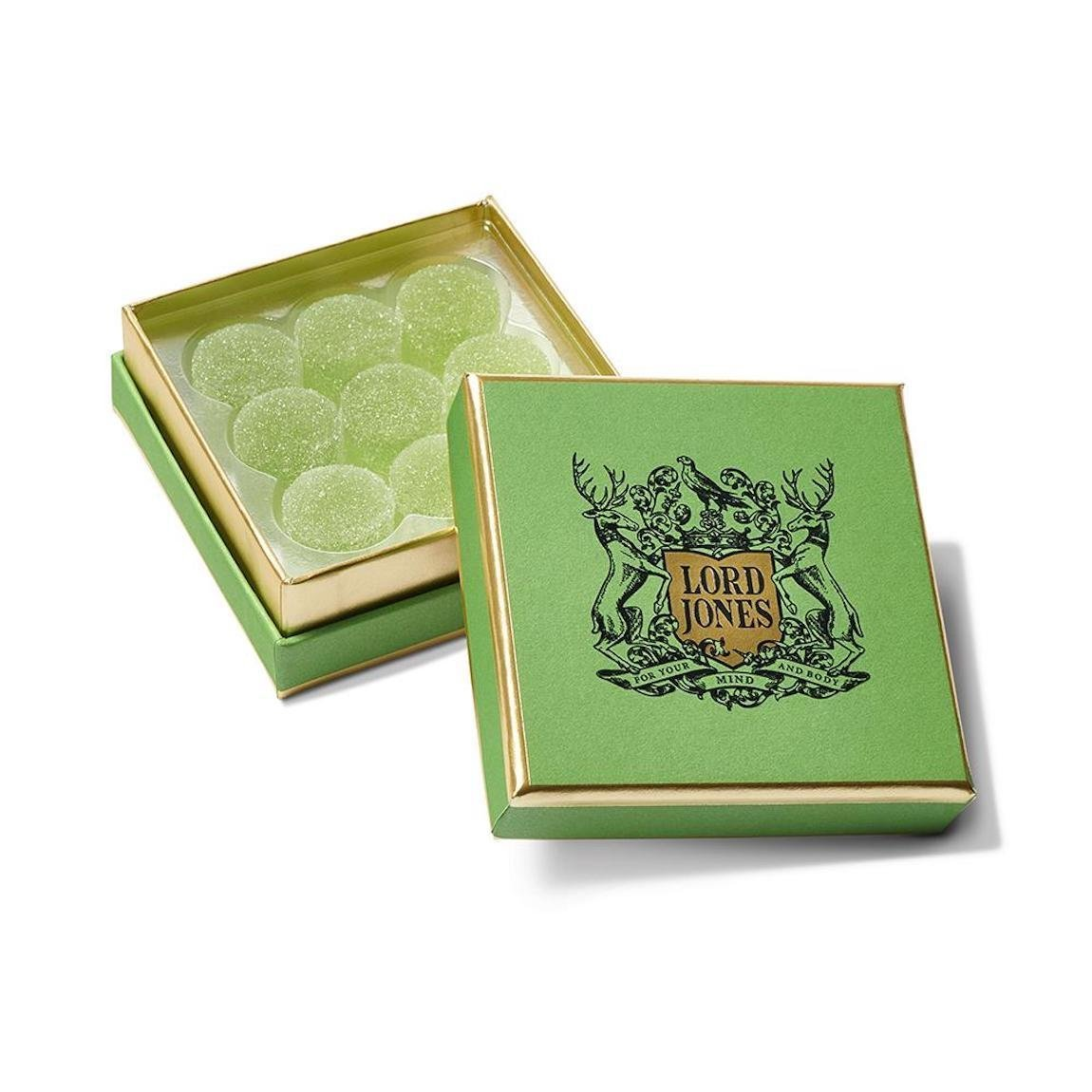 Lord Jones All Natural Old Fashioned Gumdrops Green Apple product swatch.
