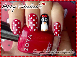 Did this last year for Valentine's and I loved it! My nails have been breaking like crazy so not sure what V-Day Mani I'll be able to come with this week =(. Hopefully something!