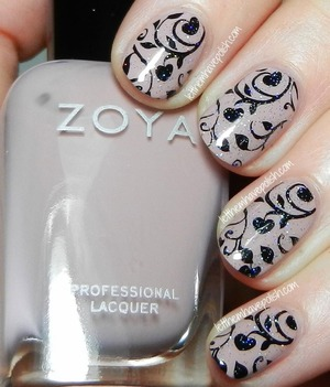 For more details http://www.letthemhavepolish.com/2014/01/zoya-rue-stamped-nail-art-look.html
