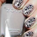 Zoya Rue with Stamped design
