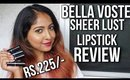 BELLA VOSTE SHEER CREME LUST LIPSTICKS | SWATCHES & REVIEW | ALL 24 SHADES | Stacey Castanha