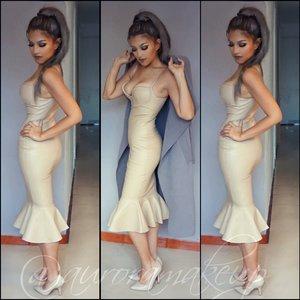 https://instagram.com/auroramakeup/  http://www.topglamboutique.com/dresses/patri-nude-bustier-flute-leatherette-dress/