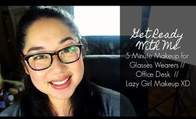 Get Ready With Me: 5 Minute Makeup For Glasses | yukieloves // warmvanillasugar0823