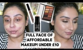 Full face of nothing over £10 - Affordable drugstore makeup