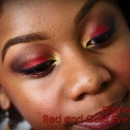 Flame Inspired Red & Gold Eyeshadow