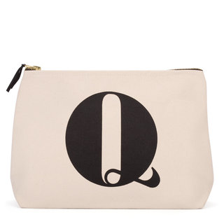 Natural Wash Bag Letter Q