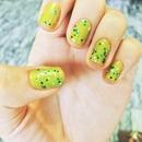 Green Glittery Nails