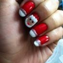 Cute Santa nails!!