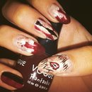 Harley Quinn inspired nails