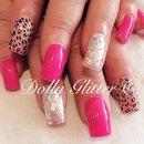 Summer pink nails