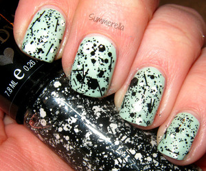 Hard Candy Black Tie Optional and China Glaze Keep Calm, Paint On http://summerella31.blogspot.com/2013/03/new-hard-candy-glitters.html