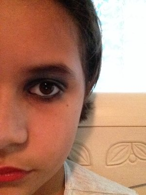 This is my 2nd try for a smokey eye.