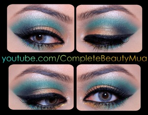IDK why on the camera it came out as teal.. is true GREEN. tutorial coming soon to my youtube channel! Check me out: @CompleteBeautyMua