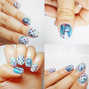 A cute design with butterfly.