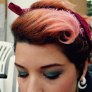 Pink Hair Victory Roll