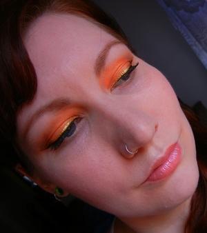 FOTD June 18, Summer Orange & Gold  http://nykkeyb.blogspot.com/2012/06/fotd-june-18-summer-orange-gold.html