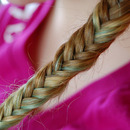 The colors show through to make a beautiful braid.