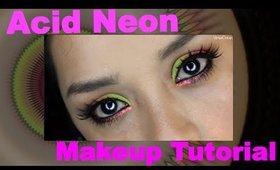 Acid Neon Summer makeup tutorial