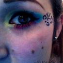 Bold eyes, with cheetah print.<3