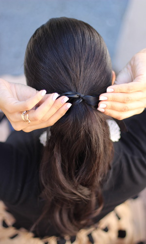Remember when you were little and you put a ribbon in your hair? http://thedressychick.com