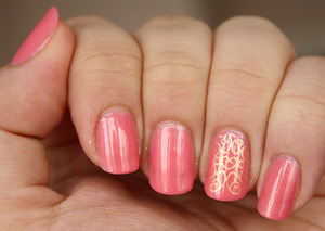 Base: Gabrini Elegant 304 Ring finger design stamped using plate BM-206.  http://iloveprettycolours.blogspot.com/2012/02/heres-one-for-valentines.html