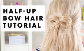Half Up Bow Hair Tutorial