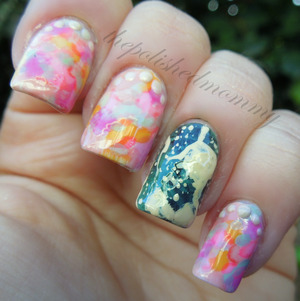 February Nail Art Challenge: Vintage. http://www.thepolishedmommy.com/2013/03/a-tale-of-vintage-wedding.html
