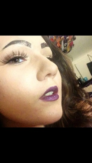 Glitter Brows and lips