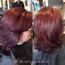 Fall hair. Did this amazing block color on my client. Looks amazing don't you think?