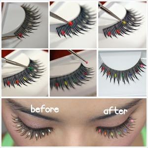 Quick and easy tutorial using Elegant Lashes D413 lashes. Full tutorial on http://blog.falseeyelashessite.com/diy-colorful-halloween-lashes/ Lashes from www.FalseEyelashesSite.com