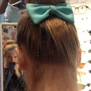 donut bun with bow
