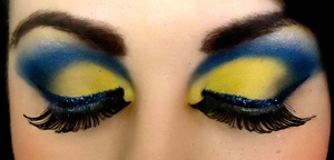 Flounder inspired makeup - from The Little Mermaid