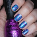 Turquoise and Pink Glitter Shatter