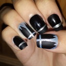 Black Cross Nails <3