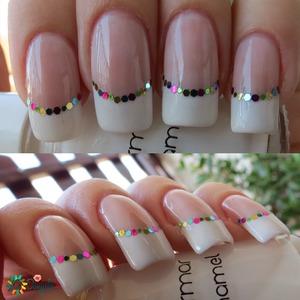 http://bydanijela.blogspot.com/2013/07/confetti-french-manicure.html