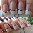 Confetti french manicure