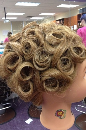 Pin curls in an up style are my fav!