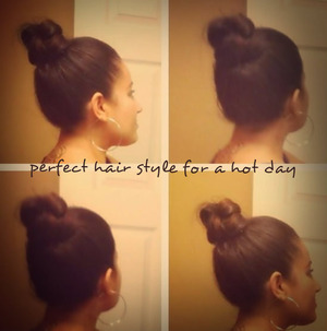 hair style for a hot day.