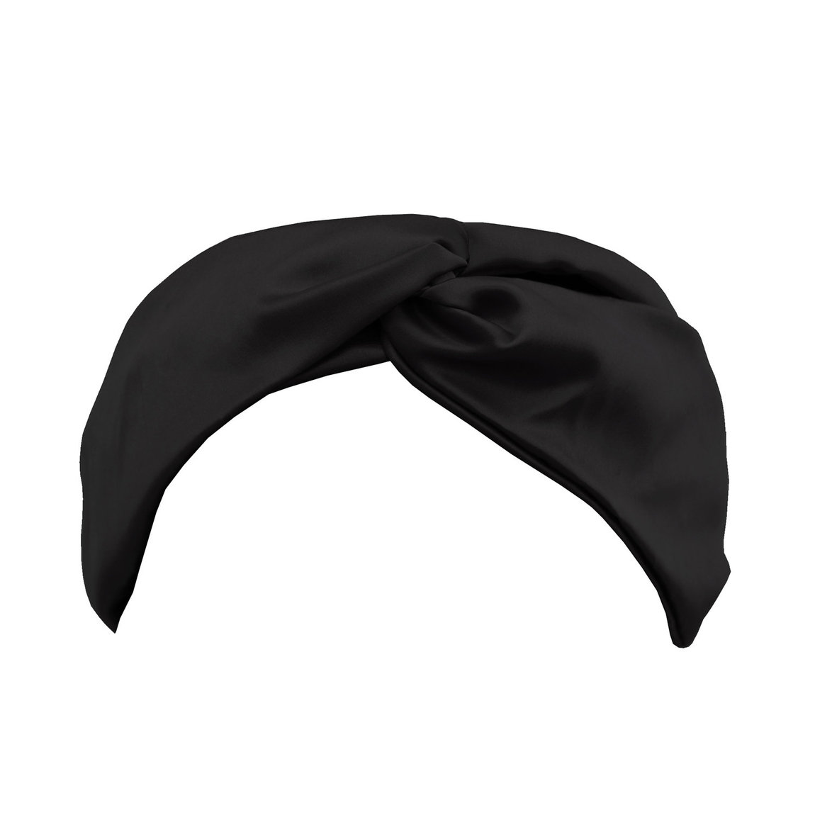 Slip Twist Silk Headband Black product swatch.