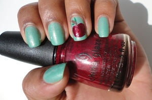 Mint coloured polish by Sinful Colours is an easy way to try out the Mint trend. http://chinadolltt.blogspot.com/2012/05/mint-apple-nails.html#more