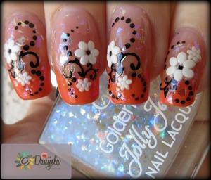 Post on my blog: http://bydanijela.blogspot.com/2013/05/orange-french-manicure-spring-flowers.html