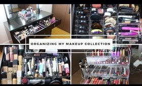 ORGANIZING MY ENTIRE MAKEUP COLLECTION 2019