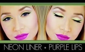 Neon Liner Purple Lips