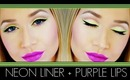 Neon Liner Purple Lips
